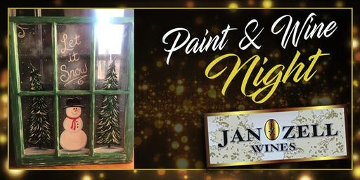 Jan Zell Wines Paint Event Old Windows