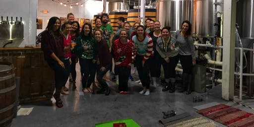 Beer Yoga - Ugly Holiday Sweater Edition