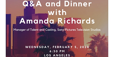 Casting Director Q&A and Dinner tickets