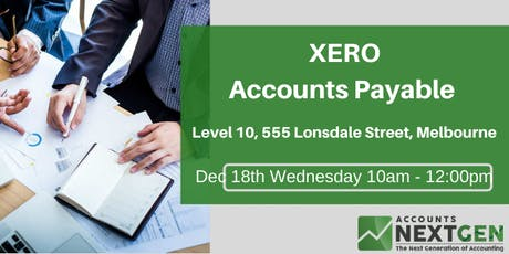 Xero Accounts Payable  Workshop tickets