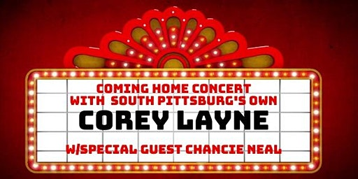 Corey Layne's Coming Home Concert at the Princess Theatre