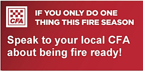Emerald CFA - Street Corner Fire Information Session tickets