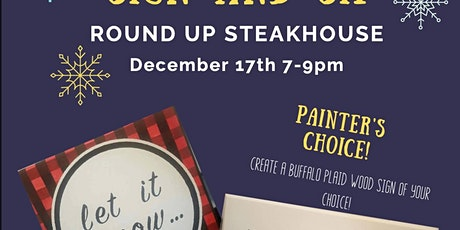 Sip&Sign at RoundUp 12/17 7-9pm tickets