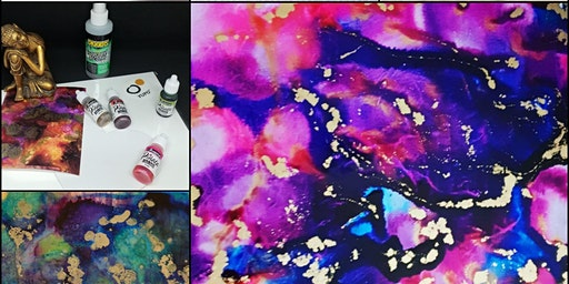 Alcohol Inks at Topaze Art Studio