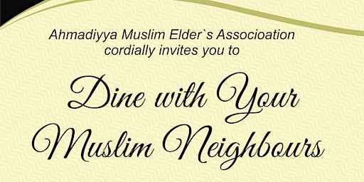 Dine with BC Muslims Neighbours