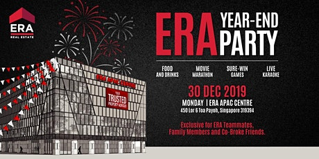ERA Year End Party @ ERA APAC Centre | 30 Dec 2019  (Mon) | 3 PM - 9 PM tickets