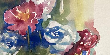 Loose flowers in watercolours tickets