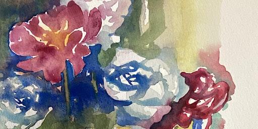 Loose flowers in watercolours