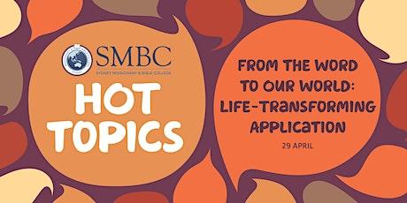 SMBC Hot Topics - Talk 8 tickets