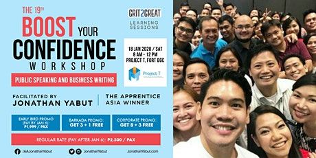 Boost Your Confidence Workshop with Jonathan Yabut tickets