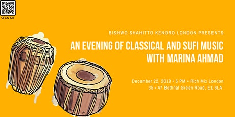 An Evening Of Classical And Sufi Music With Marina Ahmad tickets
