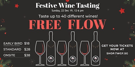 Get in the holiday mood with TWGF's ALL YOU CAN DRINK Festive Wine Tasting tickets