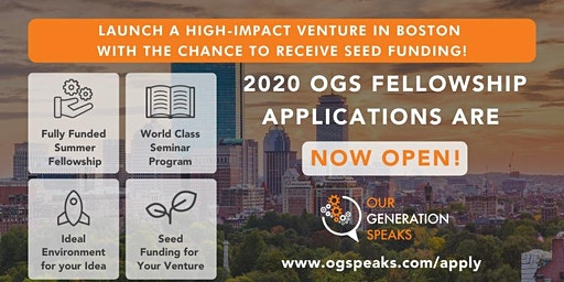 OGS @ Haifa: Create an Impact Startup via Fully-Funded Fellowship in Boston