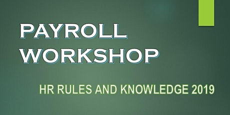 PAYROLL WORKSHOP tickets