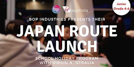 Junior Aviators Japan Route Launch Program With Virgin Australia tickets