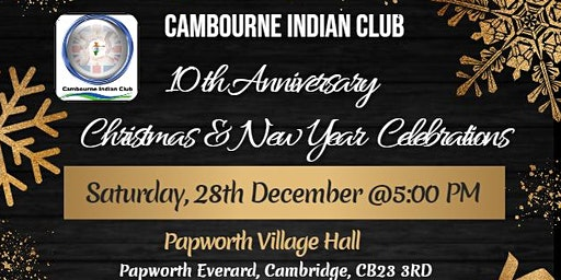 Cambourne Indian Club's 10th Anniversary Christmas NY event