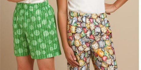 School Holiday Sewing Camp - Intermediate - Summer PJ's/Shorts tickets