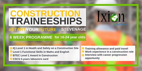 Construction Traineeships for 16-24 year olds in STEVENAGE tickets