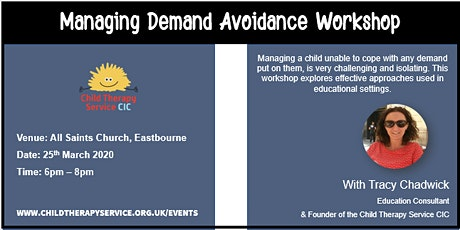 Managing Demand Avoidance in Young Children tickets