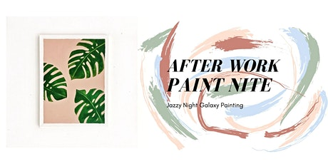 After-Work Paint Nite Therapy (Jazzy Night Monstera Painting) tickets