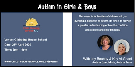 Autism in Girls and Boys tickets