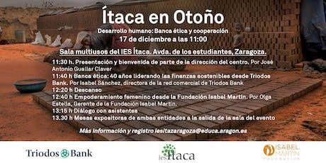 """""""Ítaca en otoño"""". Desarrollo humano: banca ética y  coperación entradas"""