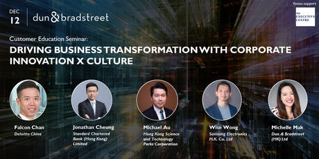 Driving Business Transformation with Corporate Innovation X Culture tickets