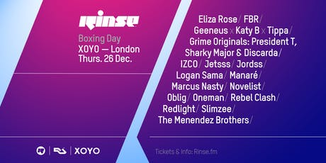 Rinse Boxing Day 2019 tickets