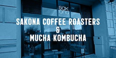 Presentación Kombucha de café en Sakona entradas