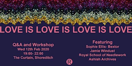 Fashion Roundtable Love is Love Sophie Ellis-Bextor Jamie Windust Valentine