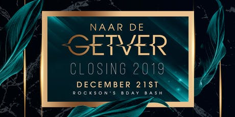 Naar De GETVER CLOSING 2019 tickets
