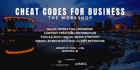 Cheat Codes for Business: The Workshop tickets