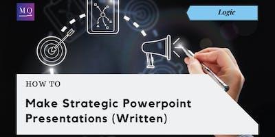 Workshop: How to Make Strategic Presentations