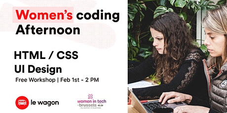 Women coding afternoon - Winter edition billets