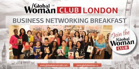 GLOBAL WOMAN CLUB LONDON: BUSINESS NETWORKING BREAKFAST - JANUARY tickets