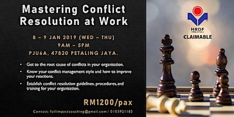 Mastering Conflict Resolution at Work (HRDF Claimable Training)  tickets