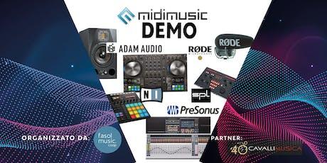MIDI MUSIC DEMO biglietti