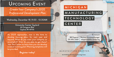 Join us in Gaylord! Company's 2020 Training Plan! tickets