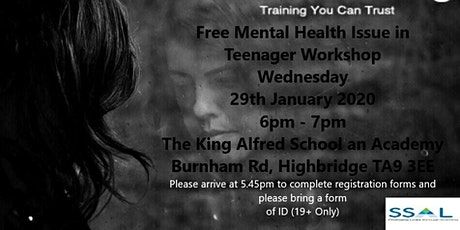 Free Workshop - Mental Health Issue in Teenagers tickets