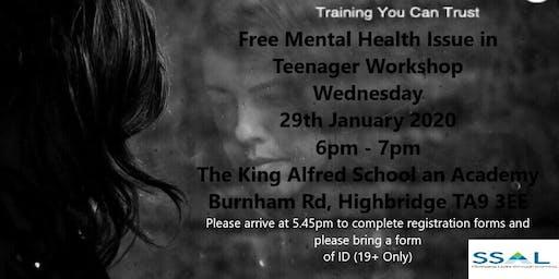 Free Workshop - Mental Health Issue in Teenagers