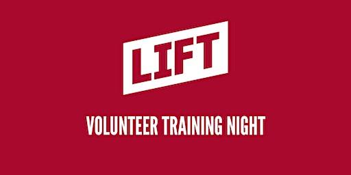 LIFT Volunteer Training Night