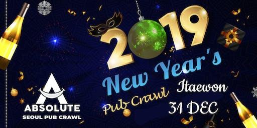 New Year's Pub Crawl - Seoul Pub Crawl by Absolute