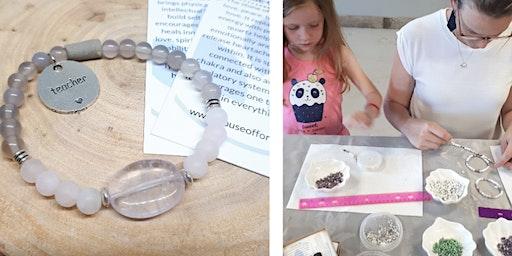 DIY Teachers Rose Quartz Aromatherapy Intention Bracelet Workshop