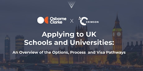 Applying to UK Schools and Universities: Options, Process and Visa Pathways tickets