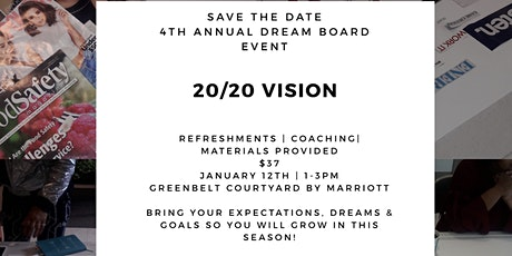 4th Annual 20/20 Vision Board Action Plan Event tickets