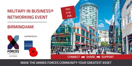 Military in Business Networking Event- Birmingham tickets