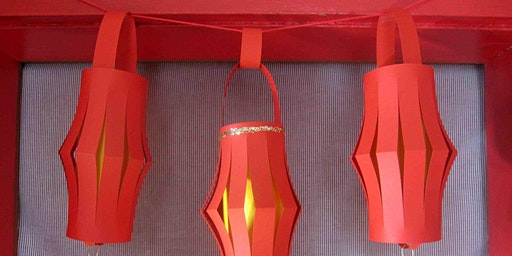 Make a paper lantern for Chinese New year