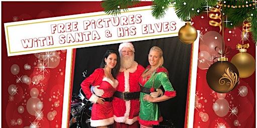 Santa Lands at Thunder Tower West Harley-Davidson