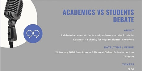 SPBC Presents: Academic v Student Debate! tickets