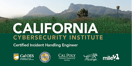C)IHE — Certified Incident Handling Engineer / OnSite: CalPoly CCI /September 22-25, 2020 tickets